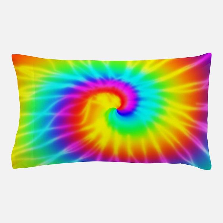 Retro Tie Dye Effect Pillow Case