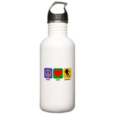 Peace Love Football (Running Back) Water Bottle