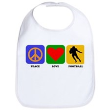 Peace Love Football (Running Back) Bib