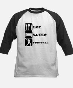 Eat Sleep Football (Quarterback) Baseball Jersey
