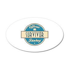Official Survivor Fanboy 22x14 Oval Wall Peel