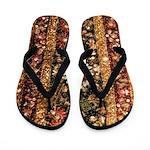 Beaded Indian Saree Photo Flip Flops