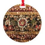 Beaded Indian Saree Photo Round Ornament