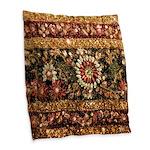 Beaded Indian Saree Photo Burlap Throw Pillow