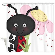 Cute little Ladybug Shower Curtain