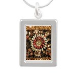 Beaded Indian Saree Phot Silver Portrait Necklace