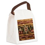 Beaded Indian Saree Photo Canvas Lunch Bag