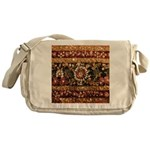 Beaded Indian Saree Photo Messenger Bag