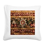 Beaded Indian Saree Photo Square Canvas Pillow