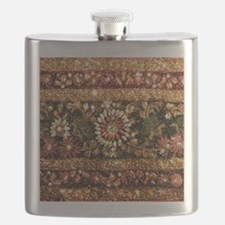 Beaded Indian Saree Photo Flask