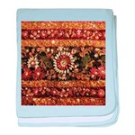 Beaded Indian Saree Photo baby blanket