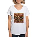 Beaded Indian Saree Photo Women's V-Neck T-Shirt