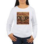 Beaded Indian Saree Ph Women's Long Sleeve T-Shirt