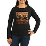 Beaded Indian Sar Women's Long Sleeve Dark T-Shirt