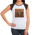 Beaded Indian Saree Pho Women's Cap Sleeve T-Shirt