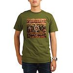 Beaded Indian Saree P Organic Men's T-Shirt (dark)