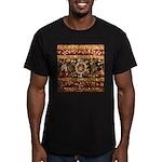 Beaded Indian Saree Ph Men's Fitted T-Shirt (dark)