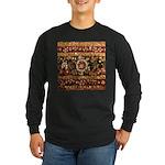 Beaded Indian Saree Photo Long Sleeve Dark T-Shirt