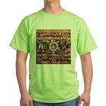 Beaded Indian Saree Photo Green T-Shirt