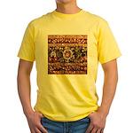 Beaded Indian Saree Photo Yellow T-Shirt