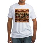 Beaded Indian Saree Photo Fitted T-Shirt
