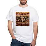 Beaded Indian Saree Photo White T-Shirt