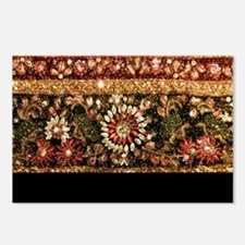 Beaded Indian Saree Photo Postcards (Package of 8)