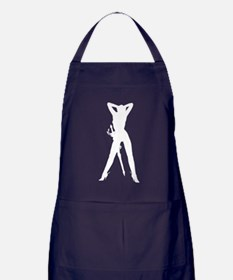 Dominatrix Silhouette Apron (dark)