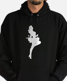 Cocktail Waitress Silhouette Hoodie