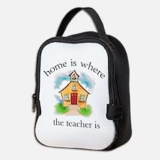 Home is where the teacher is Neoprene Lunch Bag