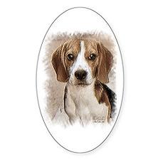 Hound Beagle Oval Decal