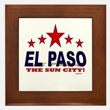 El Paso The Sun City Framed Tile