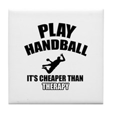 handball is my therapy Tile Coaster