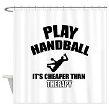 handball is my therapy Shower Curtain