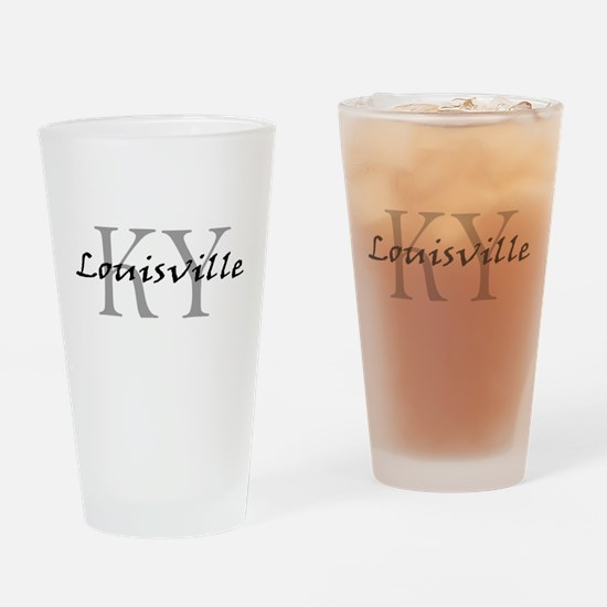LouisvilleKY-black.png Drinking Glass