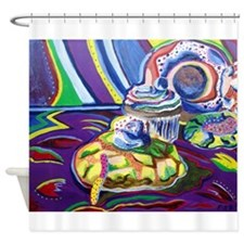Radioactive pastry Shower Curtain