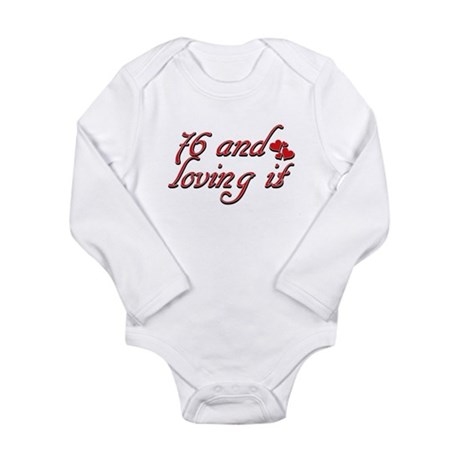 76 and loving it Long Sleeve Infant Bodysuit