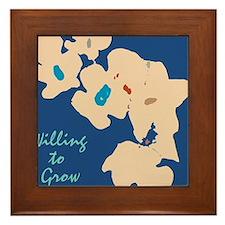 willing to Grow Floral Framed Tile
