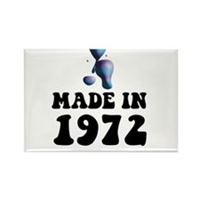 Made In 1972 Lava Lamp Rectangle Magnet