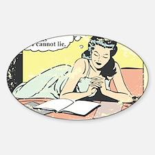 I use big books Sticker (Oval)