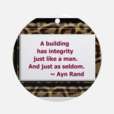 Ayn Rand Quote Ornament (Round)