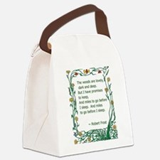 Robert Frost Canvas Lunch Bag