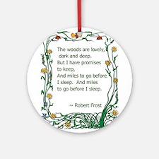 Robert Frost Ornament (Round)
