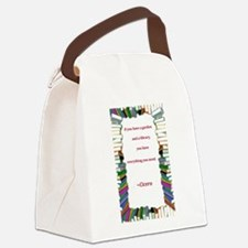 garden and a library.jpg Canvas Lunch Bag