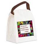 genius and madness aristotle.jpg Canvas Lunch Bag