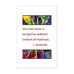 genius and madness aristotle.jpg Mini Poster Print