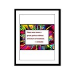 genius and madness aristotle.jpg Framed Panel Prin