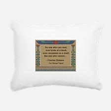 who can read a book.jpg Rectangular Canvas Pillow