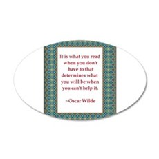 2-What you read.jpg 20x12 Oval Wall Decal