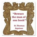 man of one book.jpg Square Car Magnet 3